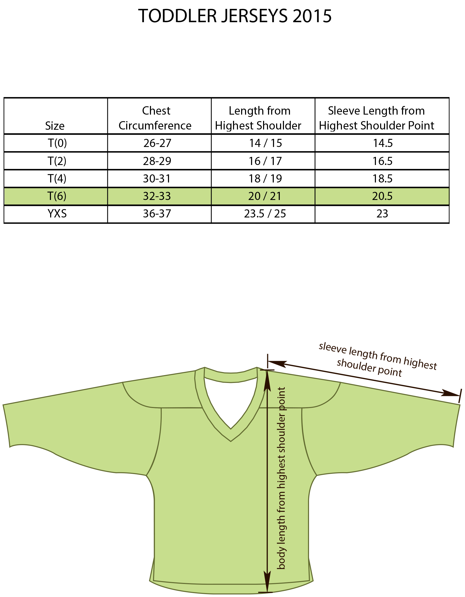 Edge Style Toddler Jersey Size Chart Image
