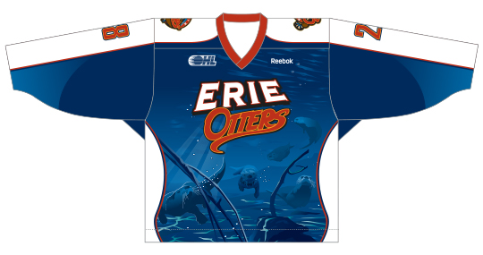 Erie Otters Warmup Jersey Image