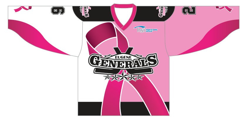 Eugene Generals Breast Cancer Jersey Image