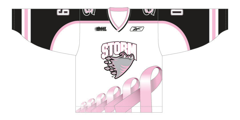 Guelph Storm Breast Cancer Jersey Image