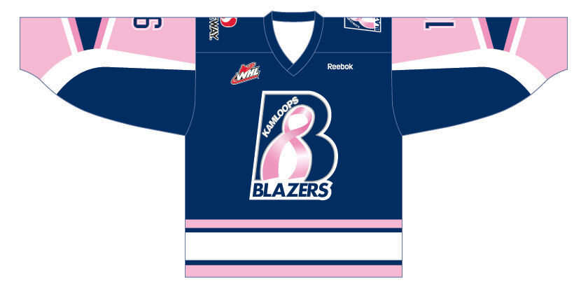 Kamloops Blazers Breast Cancer Jersey Image