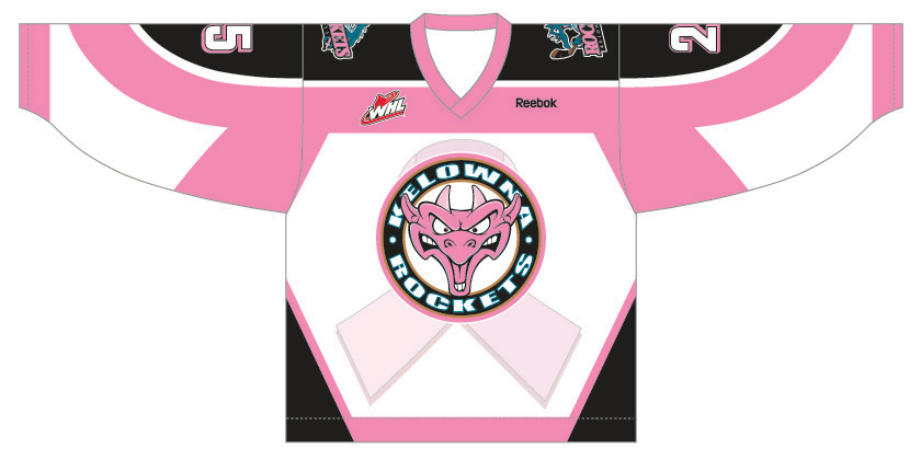 Kelowna Rockets Breast Cancer Jersey Image