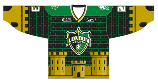 London Knights Warmup Jersey Image