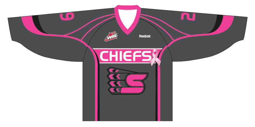 Spokane Chiefs Breast Cancer Jersey Image
